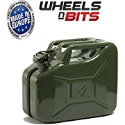 Wheels N Bits METAL POWER COATED INSIDE AN OUT JERRY CAN 10L LITRE CAN