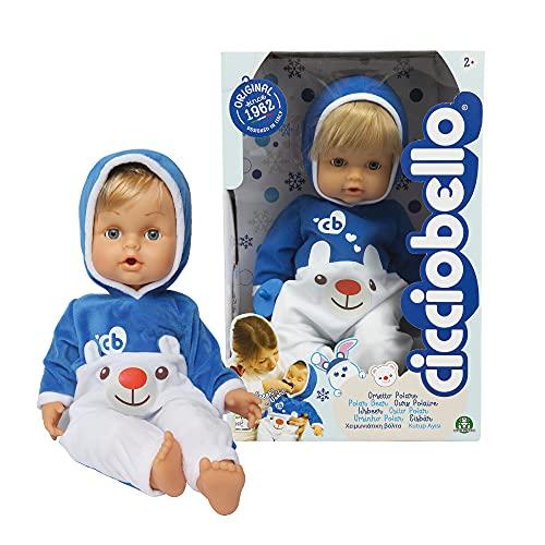 Cicciobello - Orsetto Polare Bambola è pronto per l'inverno con una morbida e calda tutina, con ciuccio per calmarlo quando piange, 42 cm, per bambine a partire dai 2 anni, CCB74000, Giochi Preziosi