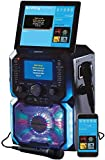 Daewoo AVS1302 Bluetooth Portable Karaoke Machine with 2 Wired Microphones, 5 inch Digital LCD Display Screen, 3.5mm AUX Input, CD, MP3, USB Connection, LED Lights & 2 Mic In Jacks