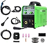 Reboot MIG Welder Flux Core 5 in 1 110/220V MIG155D Gas/Gasless 155 Amp Spool Gun Available Stick Mig TIG Welding Machine Solid Wire Automatic Feed Inverter MMA ARC Welding