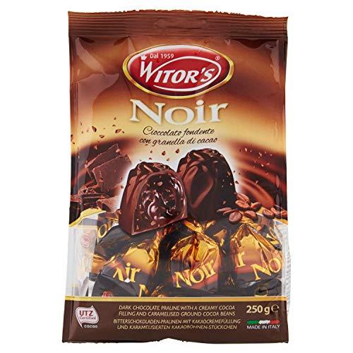 Witor´s Zartbitterschokoladen-Pralinen mit Kakaocremefüllung und Karamelisierten Kakaobohnen-Stückchen 250g
