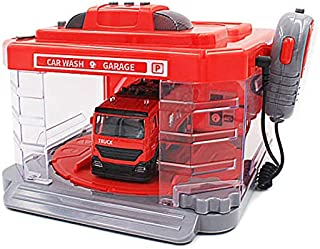Car Wash Garage - FIRETRUCK - With Sanitization Station With Spray, Light And Sound