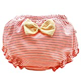 Photo de Lukis Culotte d'apprentissage Slip Bébé Fille Coton Rayure Pois Élastique Bloomers Ruffle sous-Vêtement