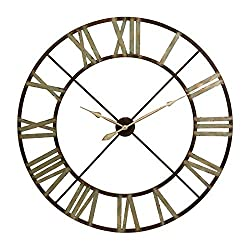 CC Home Furnishings 48 Green Shaded Rustic Antiqued Iron Decorative Oversized Wall Clock