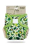 Petit Lulu TE2 Pañal de Tela | Talla Única (4-15 kg) | SIO Complete | Nueva Versión | Gancho y Bucle | Reutilizable y Lavable (Avocado)