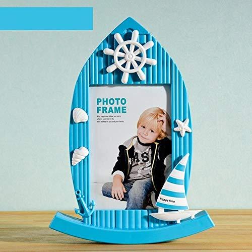 DAIN 3 Kleuren Zeilboot Gevormde fotolijst voor Tafel Baby Peuter Kinder Foto Display Frame