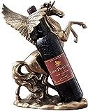 Estantería de vino Tenedor de la botella de vino del estante de vino Hecho de estante de vino de metal Soporte de botella de una sola botella de vino soporte de vino soporte para el hogar Decoraciones