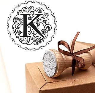 Timbro Lettera K Iniziali Timbri Lettere Alfabeto Monogramma K Idee Regalo Aziendale