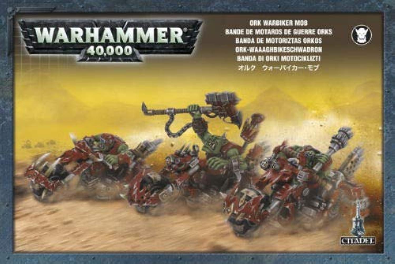 Games Workshop 99120103011  Warhammer 40K Ork War Biker Mob 2008 Action Figure