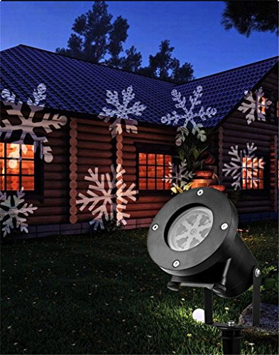 Encell LED Waterproof Indoor Outdoor Projector Light Birthday Wedding Christmas Party Stage Show Decoration,Multi Color Light