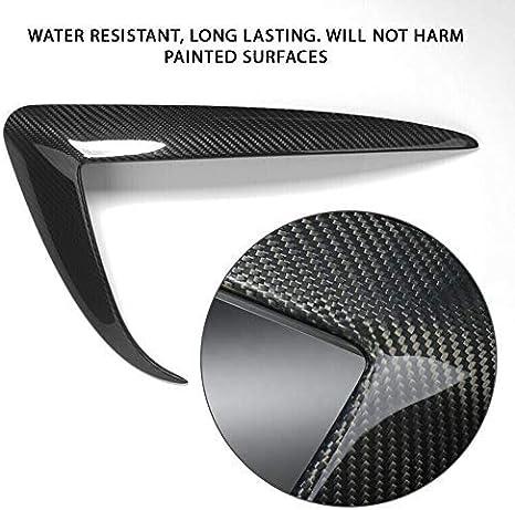 CoolKo Fog Light Eyebrow Cover Trim Frame Exterior Decoration Compatible with Model 3 /& Y Carbon Fiber Pattern