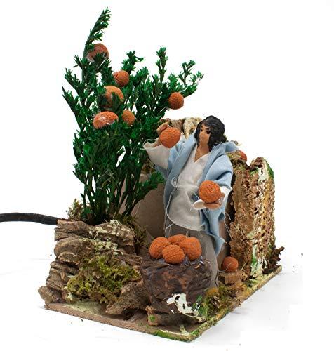 Joy Christmas Pastore per Presepe in Movimento 14 cm x 9 cm Raccoglitore di Arance