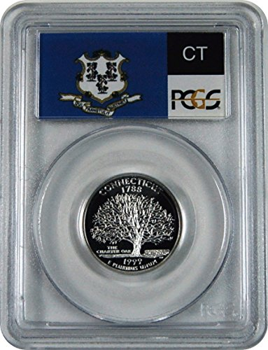 1999 S Connecticut Silver Statehood Connecticut Silver Statehood Quarter DCAM PCGS PR-70