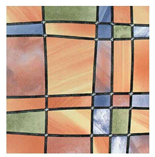 Bunte Fensterfolie Barcelona Adhesive - Klebefilm Bleiglas Look 0,67 m x 2 m