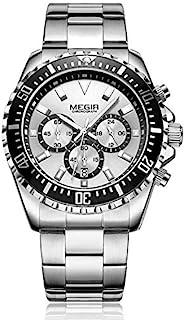 ميجير ساعة يد رجالية انالوج بعقارب ، ستانلس ستيل ،MS2064G-1N7