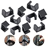 USLION 10 PCS of Outdoor Patio Wicker Furniture Alignment Sofa Rattan Chair Sofa Fasteners Clip Sectional Connector (L, Black) …