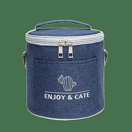 Insulated Lunch Bag Reusable Lunch Bag High Capacity Three-Layer Thick Fabric to Insulation & Freshness, Water-Resistant, for Adults/Men/Women ,18x18x17cm