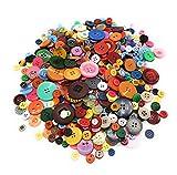 Gran mezcla de botones de plástico de colores, diferentes tamaños y colores, para coser y hacer manualidades.