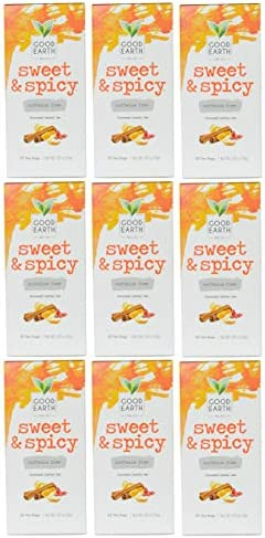 Good Earth Original Sweet and Spicy Herbal Tea Blend 9 Pack Caffeine Free product image