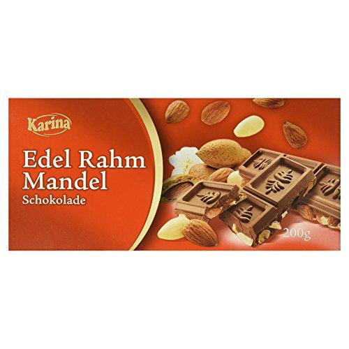 Karina Schokoladentafel Edel Rahm Mandel, 200 g