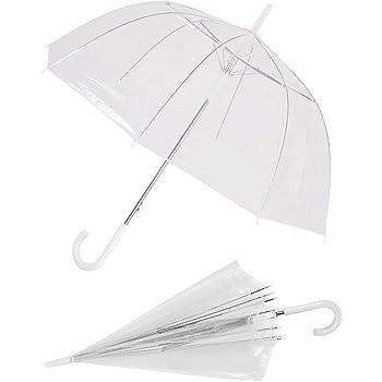 Rosa Cafopgrill Ombrello Pioggia Trasparente Protezione affidabile Ombrello da Viaggio Pieghevole Portatile Ombrello da Pioggia Pieghevole da Donna