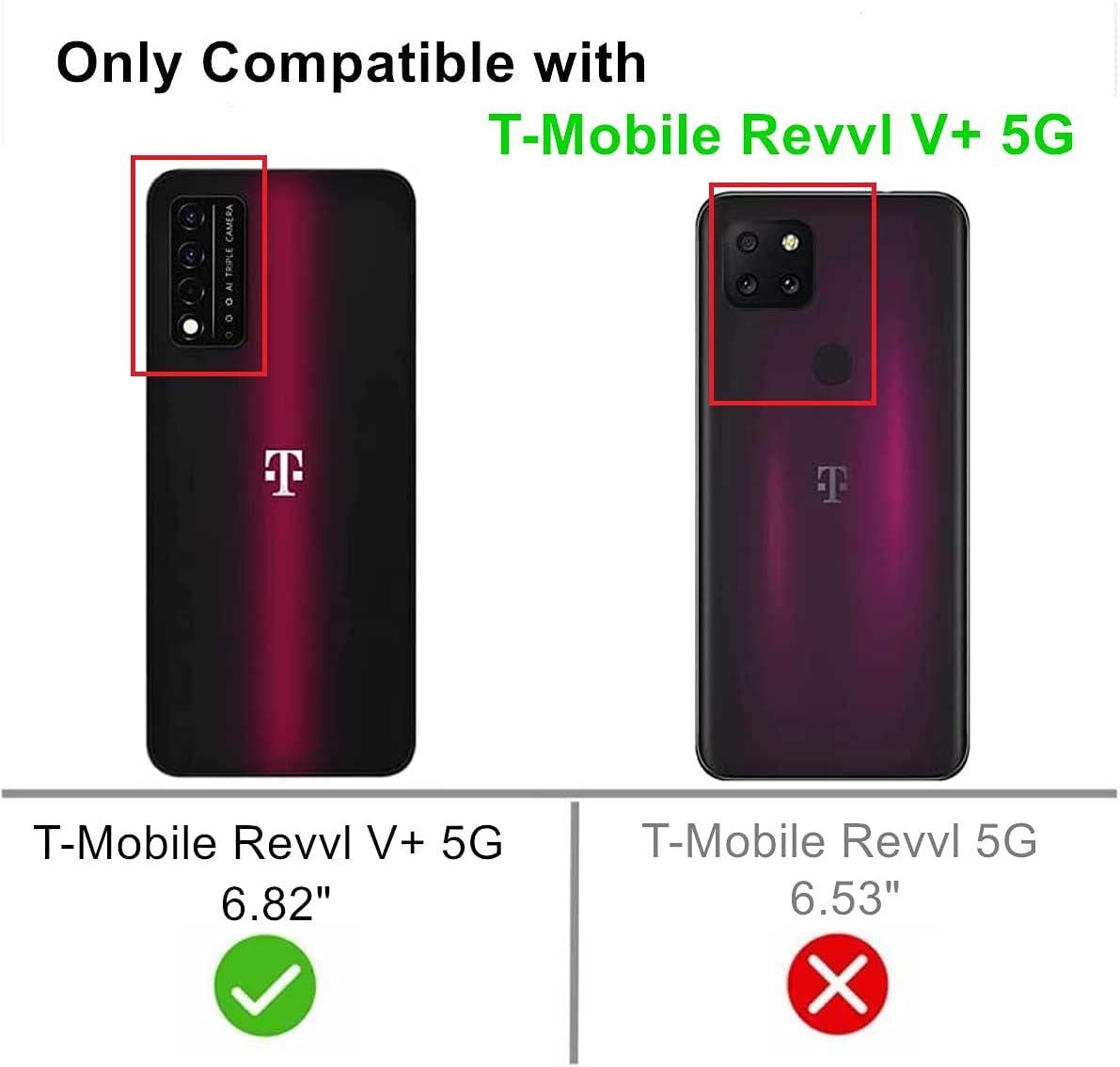 FollmeAir for T-Mobile Revvl V+ 5G Case, TCL Revvl V+ 5G Case, Slim Flexible TPU for Girls Women Airbag Bumper Shock Absorption Rubber Soft Silicone Case Cover Fit for T-Mobile Revvl V+ 5G (Clear)