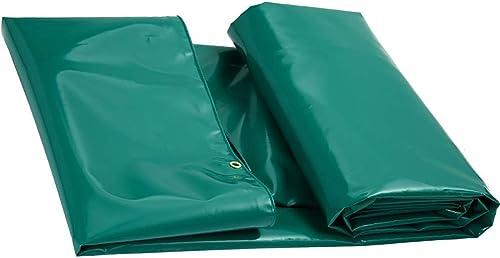 Party Girls S Bache de Sol en Toile imperméable résistante pour Tente d'extérieur 650 g m2 (Couleur   Bleu, Taille   4 × 3 m), Vert, 7×5m