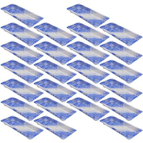 Cabilock 25 Unidades Bandejas Desechables de Sushi Envases de Plástico para IR Caja para Llevar para Aperitivos Entrantes Postres Restaurantware