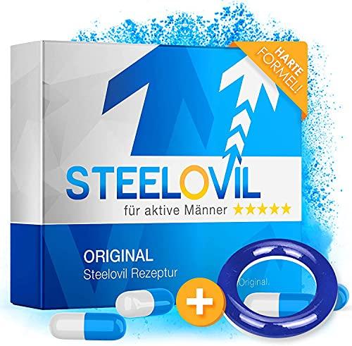 Original Steelovil I Die natürliche Alternative + GRATIS Ring I Tabletten für aktive Männer 100mg oral I NEUTRALE VERPACKUNG