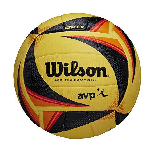 Wilson Volleyball OPTX AVP VB REPLICA, Replica Beach-Volleyball, Synthetik, Offizielle Größe, gelb, WTH01020XB