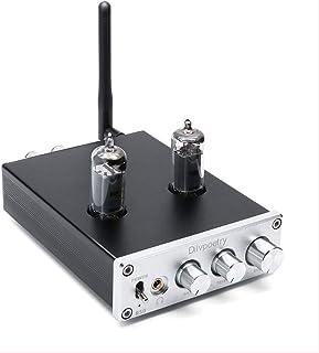 Dilvpoetry R50 Tube Headphone Amplifier 50W X 50W 6J4 Buffer Bluetooth 4.2 Reciver Stereo Audio Preamp Treble & Bass Tone ...