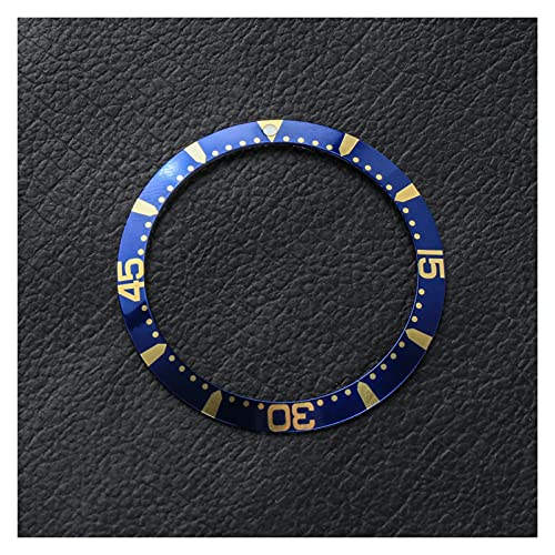 ZRNG 39 * 32.2mm Negro Azul Bisel de Aluminio Inserto 41mm Fit Dial Fit para Longines HydroConQuest L3 Reloj Relojes Face Relojes Accesorio de reemplazo (Color : A)