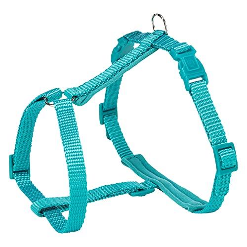 Trixie Premium - Pettorina per Gatti con guinzaglio, 25-45 cm/10 mm, 1,20 m, Colore: Oceano
