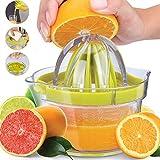 LHP Exprimidor Manual de limón y exprimidor multifunción 4 en 1 con escariadores de Varios tamaños, Separador de yema de Huevo, rallador de Jengibre y ajo