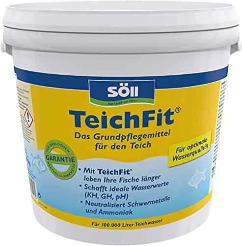 Söll 15150 TeichFit Grundpflegemittel für den Teich 5 kg - ganzjährig anwendbarer Wasseraufbereiter Stabilisator für Teichwasser im Gartenteich Fischteich Koiteich Schwimmteich