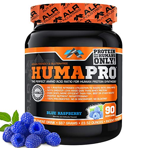 ALR Industries Humapro, Protein Matrix Blend, Formulated for Humans, Amino Acids, Lean Muscle, Vegan Friendly, Blue Raspberry, 667 Grams