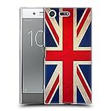 Head Case Designs Británicos De Gran Bretaña Banderas Vintage Carcasa de Gel de Silicona Compatible con Sony Xperia XZ Premium
