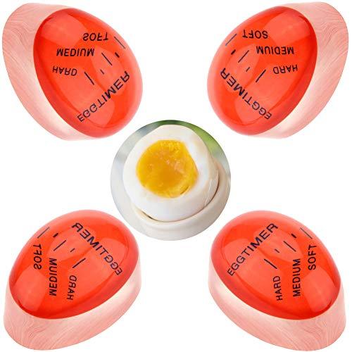 XYDZ Eieruhr Egg-Timer, 4 PCS Farbe Wechsel Wärmeempfindliche Eieruhr für Küche Kochen