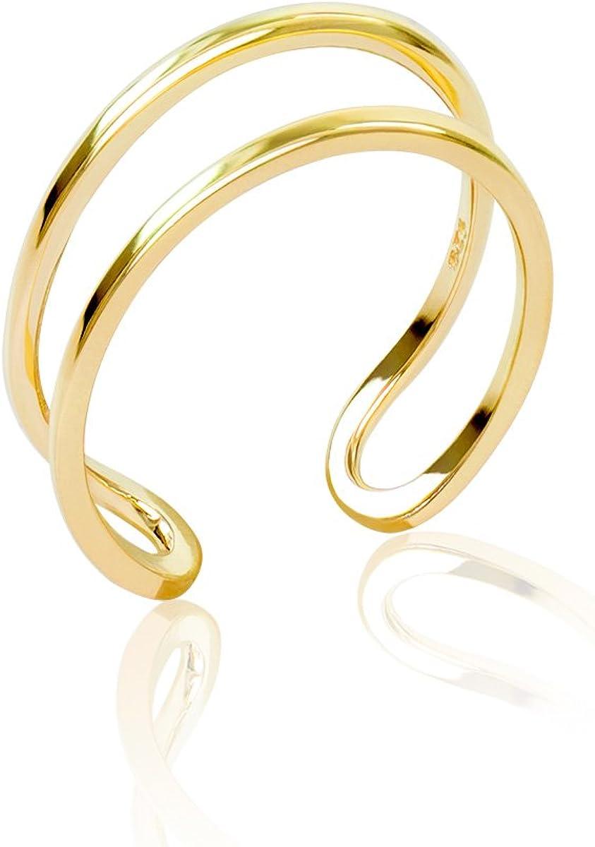 Honolulu Jewelry Company 14K Yellow Gold Two Row Band Toe Ring
