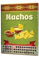 カレンダー Perpetual Calendar Kitchen Nachos Tin Metal Magnetic