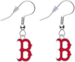 Final Touch Gifts Boston Red Sox B Earrings Pierced