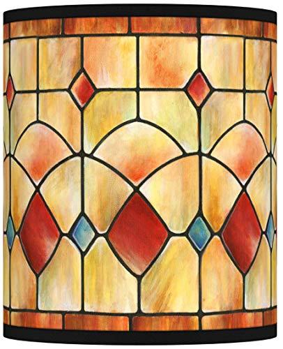 Tiffany-Style Reds Giclee Shade 10x10x12 (Spider) - Giclee Glow