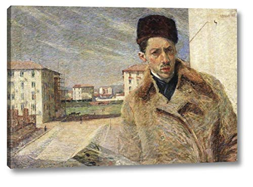 """Self-Portrait by Umberto Boccioni - 20"""" x 30"""" Canvas Art Print Gallery Wrapped - Ready to Hang"""