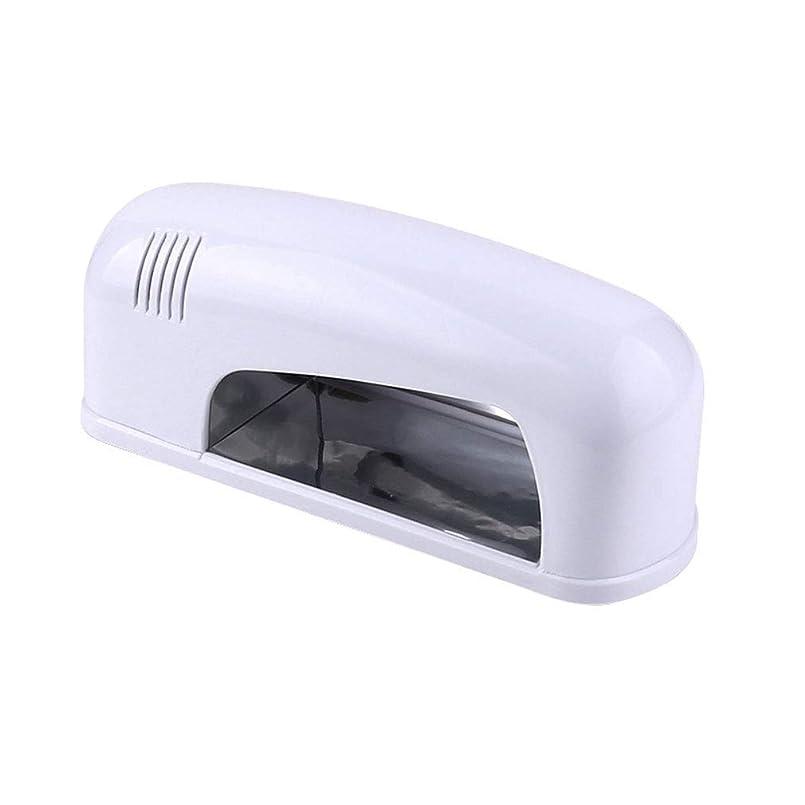 乳香り親密な9ワットポータブルネイルドライヤー、ネイル用LED/UVランプ、すべてのジェルに適し、旅行が可能、持ち運びが簡単,White