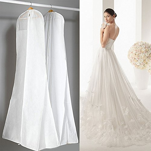 TJW Housse de rangement respirante pour robe de mariée