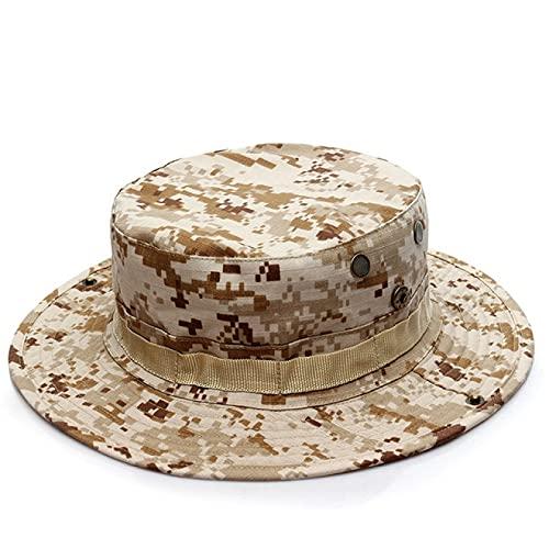 NYSJLONG Sombreros para Hombre, Sombrero de Camuflaje Militar, Sombreros de Cubo, Caza del ejército, Senderismo al Aire Libre, Pesca, Protector Solar, Gorra de Pescador, Gorra táctica para Hombres