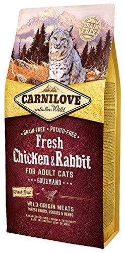 Carnilove Carnilove Fre Chicken & Rabbit Gourmand Comida Deshidratada Para Gato 2 Kg - Paquete de 20 x 100 gr - Total: 2000 gr