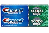Crest Complete Toothpaste, Extra Whitening Scope Advanced Freshness, Minty Fresh Striped, 8.2 Oz (232g) - Pack of 2