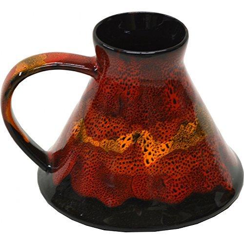 Wide Bottom Travel Mug in Dante's Inferno Glaze by ALWAYS AZUL POTTERY