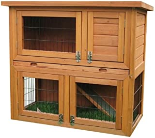 BUNNY BUSINESS 2-Tier Double Decker Rabbit/Guinea Pig Hutch with Sliding Tray